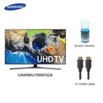 Samsung Un49mu7000fxza W/ Cable & Cleaner Led Smart Tv