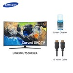 Samsung Un49mu7500fxza W/ Cable & Cleaner Led Smart Tv