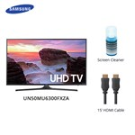 Samsung Un50mu6300fxza W/ Cable & Cleaner Led Smart Tv