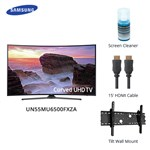 Samsung Un55mu6500fxza Bundle Led Smart Tv