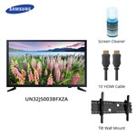 Samsung Un32j5003bfxza Bundle 32-inch Led Tv