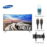 Samsung Un65mu8500fxza Bundle Mu8500 Curved 4k Uhd Tv