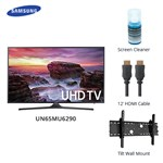 Samsung Un65mu6290 Bundle 65 Inch 6 Series Uhd Tv