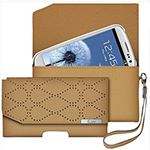 """iLuv Galaxy S3 Atelier Clutch Tan Wallet Brand New, The iLuv Galaxy S3 Atelier Clutch Tan Wallet is designed from genuine leather which provides you with combination of superior protection and elegant styling"