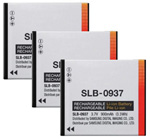 Samsung Battery for Samsung SLB-0937 (3-Pack) Replacement Battery