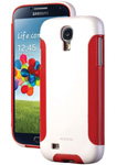 """DBA Cases Complete Ultra Package for Galaxy S IV - White/Candy Red Brand New, The DBA Cases Complete Ultra Package has an innovative design with two layer protection"