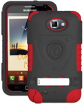 """""""Trident Kraken AMS Case for Galaxy Note1 Red Brand New, The Trident Kraken AMS Case, comes with hardened polycarbonate outer casing, impact-resistant silicone corners and high quality dust filters to strengthen the protection"""