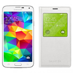Samsung GALAXYS5-WHITE + GALAXYS5SVIEWCOVER-WHITE Unlocked GSM Mobile