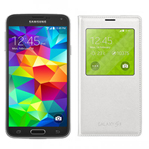 Samsung GALAXYS5-BLACK + GALAXYS5SVIEWCOVER-WHITE Unlocked GSM Mobile