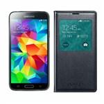 Samsung GALAXYS5-BLACK + GALAXYS5SVIEWCOVER-BLACK Unlocked GSM Mobile