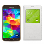 Samsung GALAXYS5-GOLD + GALAXYS5SVIEWCOVER-WHITE Unlocked GSM Mobile P